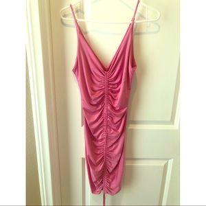 Kyrra Pink Scrunch Dress